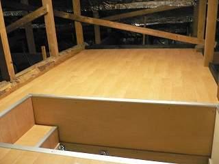 天井裏収納設置