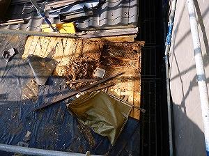 屋根下地腐食