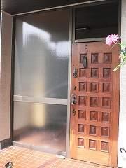 木製玄関ドア ビフォー